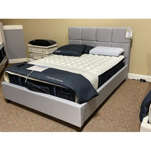 Malouf - SCORESBY DESIGNER BED (Available in Multiple Colors, Fabrics, & Sizes)