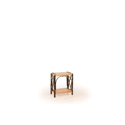Brage Rustic Collection - Hickory 2 Tier End Table