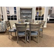 Dining Set with 6 Cushioned Chairs & Matching Etegere