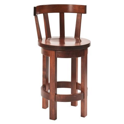 Amish Furniture - Barrel back stool