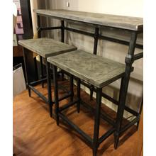 See Details - Sofa table with slide under barstools