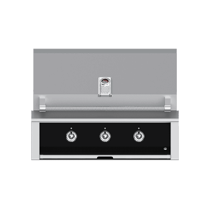 "Aspire By Hestan 36"" Built-In U-Burner Grill NG Stealth Black"