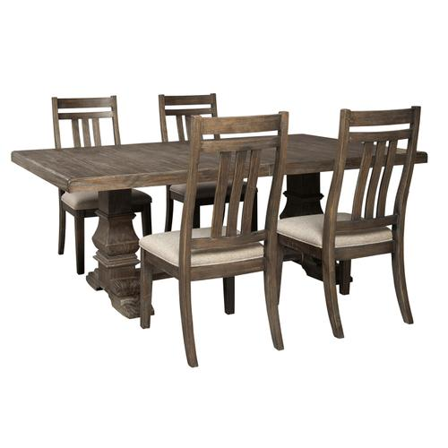 Wyndahl Dining Table with 4 Slat Chairs