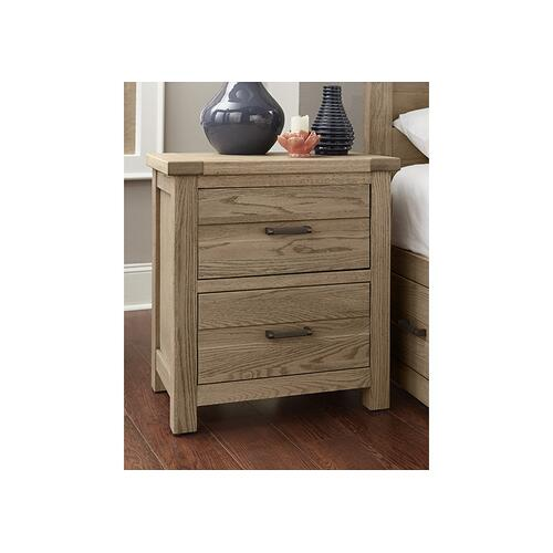 CLEARANCE Highlands 2 Drawer Nightstand