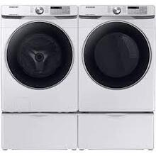 SAMSUNG 4.5 cu. ft. Front Load Washer/7.5 cu. ft. Electric Dryer with Steam Sanitize