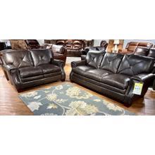 See Details - Torino Dark Brown Leather Sofa & Loveseat