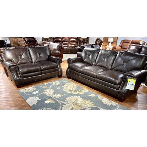 Futura - Torino Dark Brown Leather Sofa & Loveseat