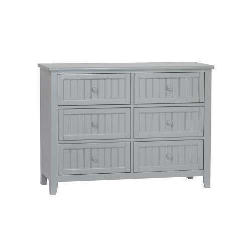 Anaheim 6 Drawer Dresser - Grey
