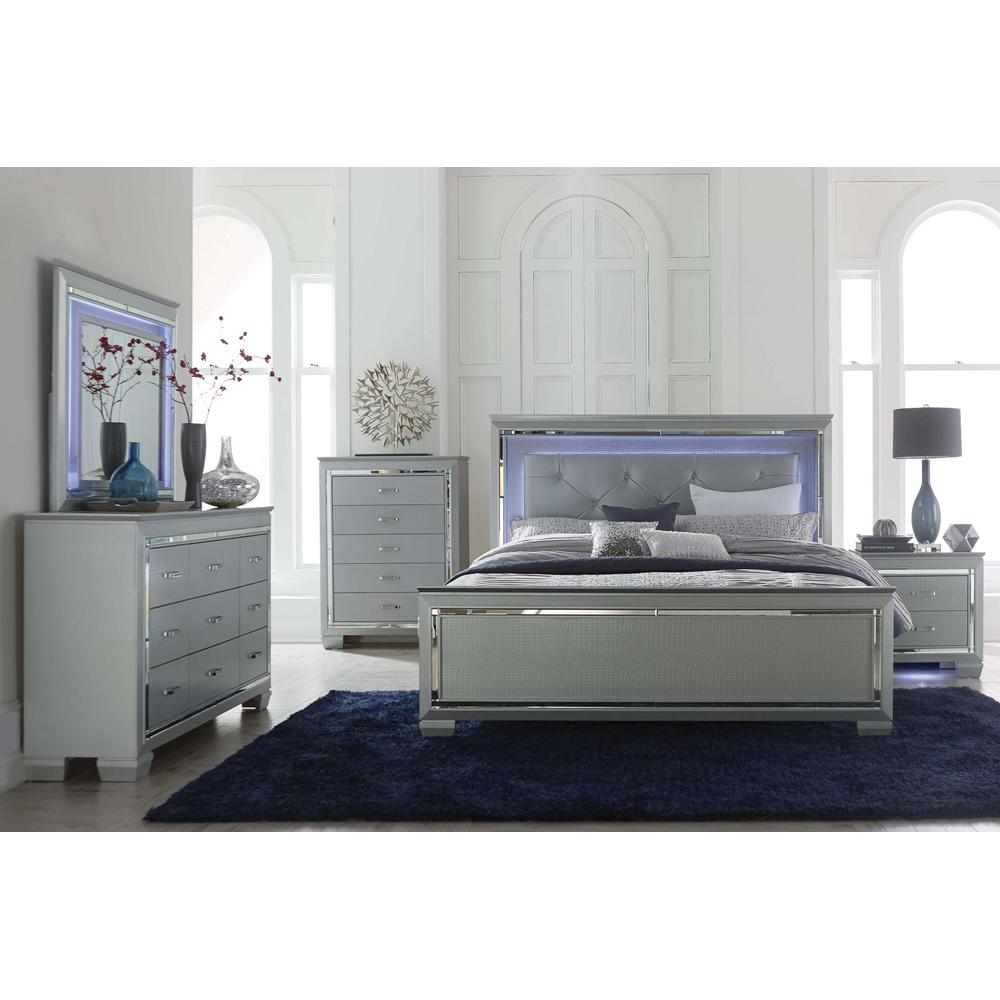 Allura LED 4 Pc Full Bed Set