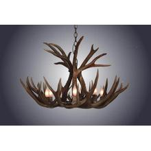 4 Light Small Mule Deer Antler Chandelier