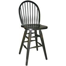 "24"" Hardwood Swivel Barstool"