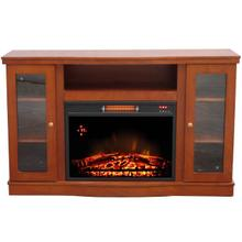 WORLDHEATER QEF7530RKD Comfort Glow Abington Media Center with Infrared Quartz Electric Fireplace