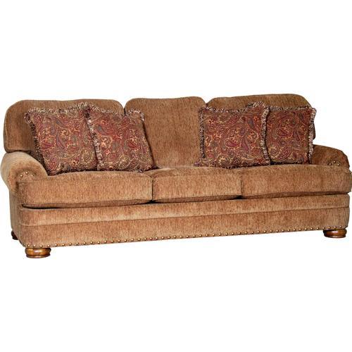 3620 Sofa - Impressive Umber  CP1 & CP2 Phillip Antique  PT1 & PT2 Rebecca Harvest NAIL Brass, shown with walnut finish