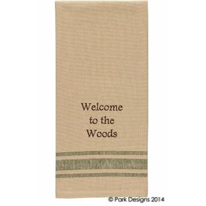 Welcome to the Woods Dishtowel