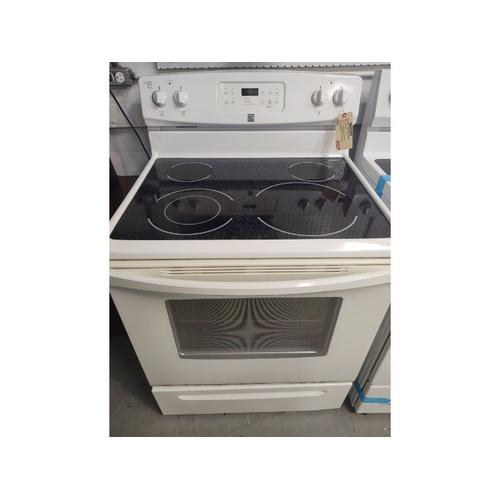 """Used 90 Day Warranty - Kenmore 30"""" Free Standing Electric Range; SmoothTop"""