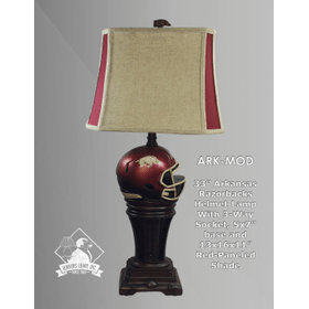 Arkansas Razorback Helmet Lamp