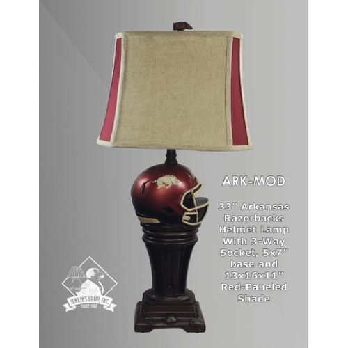 Gallery - Arkansas Razorback Helmet Lamp