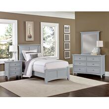 Twin Gray 4 PC Bedroom Set - Panel Bed