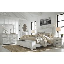 Kanwyn - Whitewash - 7 Pc. - Dresser, Mirror, Chest, Nightstand & Queen Panel Bed with Storage