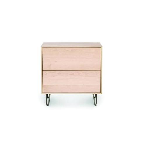 CANVAS 2 DRAWER WITH PUSH TO OPEN DRAWERS NIGHTSTAND