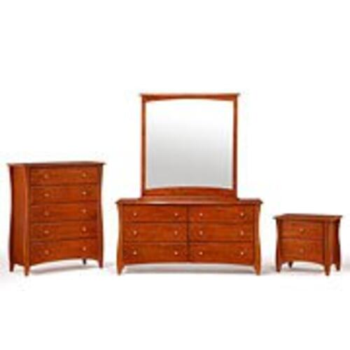 Night and Day Furniture - Clove Mirror Cherry Finish