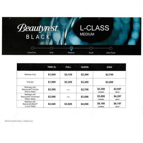 Beautyrest Black - L-Class - Medium - Queen