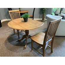 Round Folding Dinette Table with Matching Chairs - C59 and T59