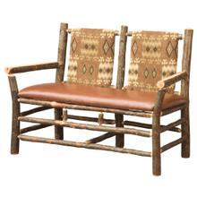 Settee w/ Fabric Seat & Back