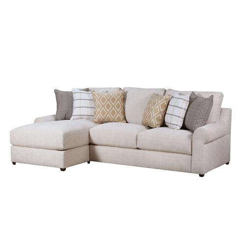 Pompeii Snow Chaise Sofa