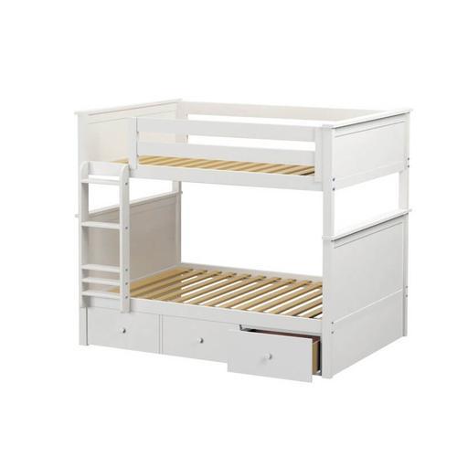 Maxtrix - Jackpot Kent Full/Full Bunk   Trundle Storage In White Finish