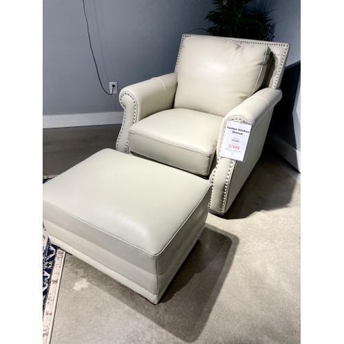 Futura - Coastal Cloud Leather Chair & Ottoman