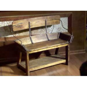 """All Resort Furnishings - Buckboard Bench - Open Back 41"""""""