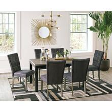 Dontally - Two-tone - 7 Pc. - Rectangular Table & 6 Upholstered Side Chairs