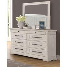 LIFESTYLE C8047DM Gracie Antique Whitewash Dresser & Mirror