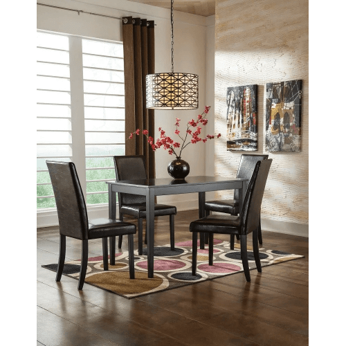 Kimonte - Dark Brown - 5 Pc. - Rectangular Table & 4 Brown Side Chairs