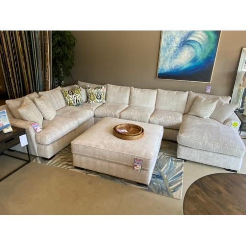 Stanton Furniture - 495 Sectional $3999 & XL Ottoman(sold separately) $799