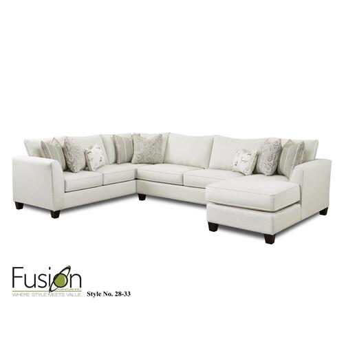 Fusion Furniture - Sectional Homecoming Stone