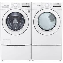 View Product - LG 4.5 CF Front Load Washer - White; 7.4 CF Electric Dryer - White