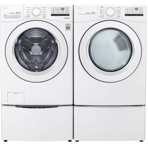 Packages - LG 4.5 CF Front Load Washer - White; 7.4 CF Electric Dryer - White