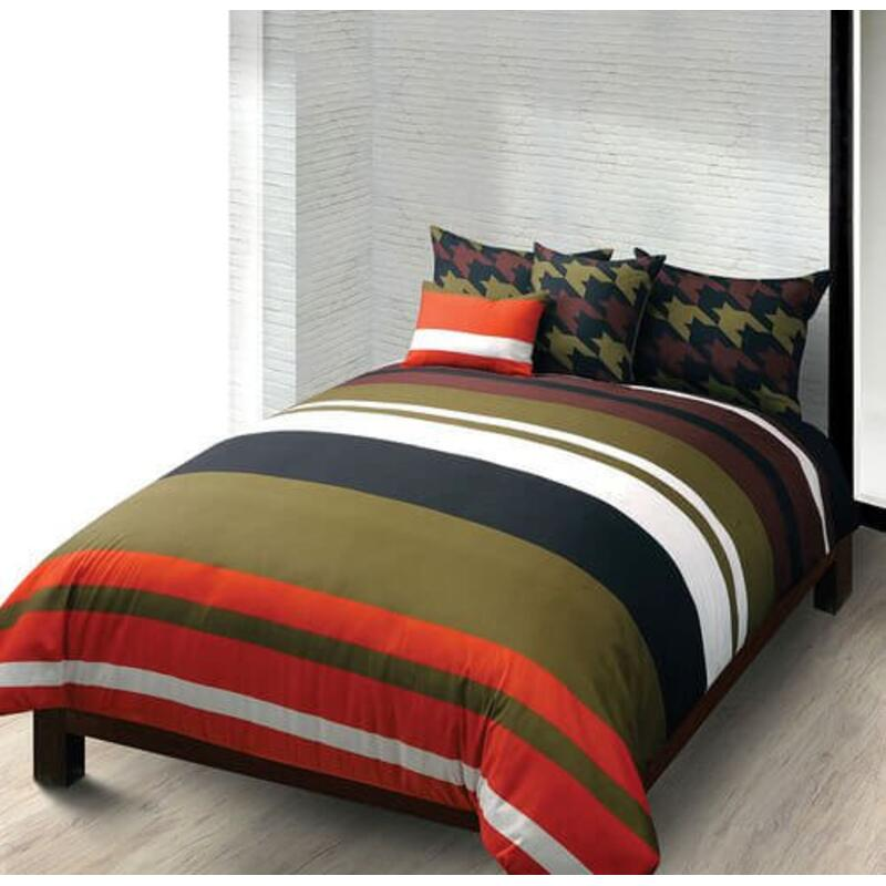 Military Stripe Comforter Twin 2pc