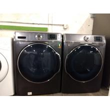 Refurbished Dark Grey STEAM EXTRA LARGE CAPACITY Samsung Front Load Washer Dryer Set  Please call store if you would like additional pictures. This set carries our 6 month warranty, MANUFACTURER WARRANTY AND REBATES ARE NOT VALID (Sold only as a set)