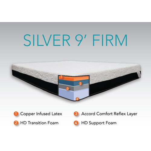 """Accord Comfort Sleep Systems - CopperRest Sleep - Silver 9"""" - Firm"""