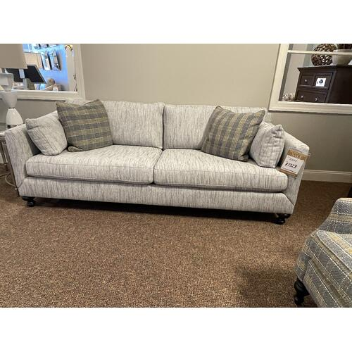 Grey Plaid Arm Chair