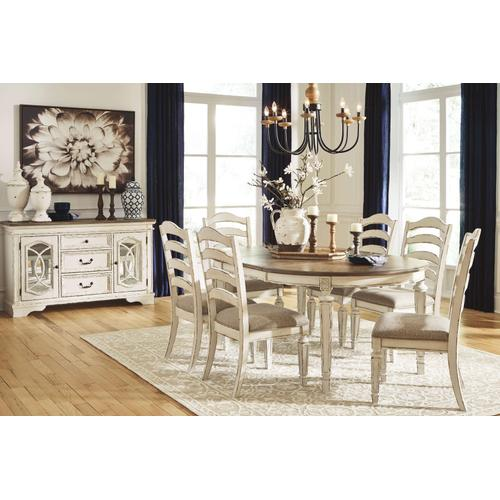 D743-35/01  Oval Dining Room EXT Table and 6 Chairs