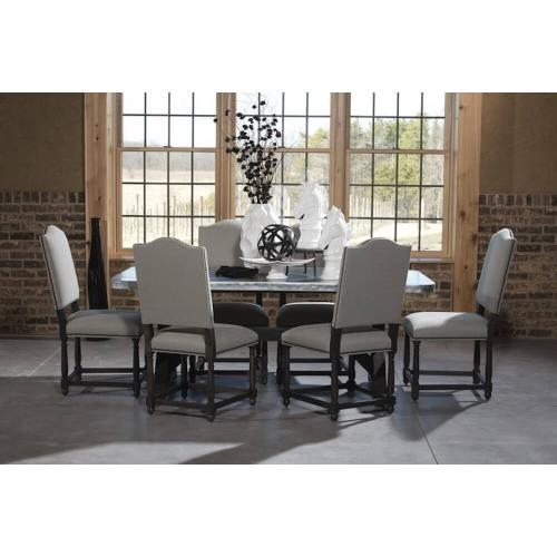 Winesburg - Charlie Chairs with Zinc Stop Table