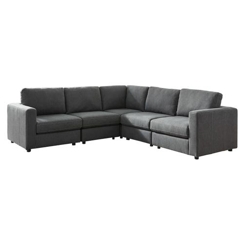 Candela - Charcoal - 5-Piece Sectional