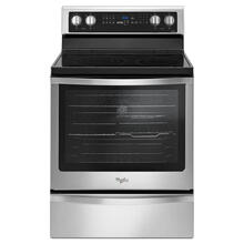 Whirlpool Smooth Surface 5-Element 6.4-cu ft Self-Cleaning Convection Freestanding Electric Range (Fingerprint-Resistant Stainless Steel) (Common: 30-in; Actual: 29.875-in)