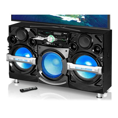"""XForce 2 Triple 15"""" Woofer Entertainment Center with Bluetooth"""