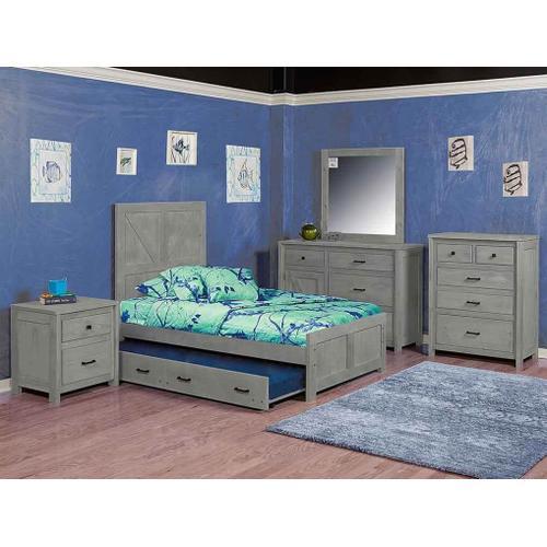 Urban Ranch Panel Bed Gray