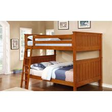 Belfort Full over Full Bunk Bed - Rustic Pecan